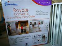 Baby barrier- gate royale converta 3in1play pen gate