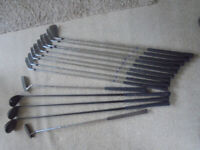 Golf clubs and trolley etc.