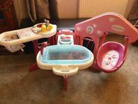 Baby doll nursing station