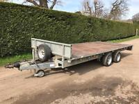 Ifor Williams 16ft 3.5 tonne flat bed trailer