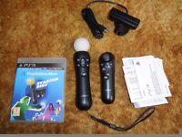 PS3 Move Controller Set
