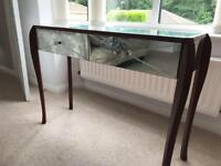 Charleston Laura Ashley Art Deco mirrored console table and two 2 drawer side tables for sale .