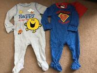 Boys 3-6m Cute Sleepsuits