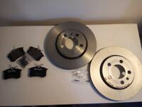 Brembo Rear Brake Discs No. 09.A652.11 plus pads for MKIV Golf GTI/V5/V6/R32