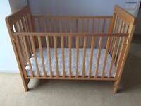 cosatto close to be bedside cot beech