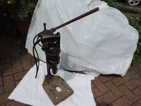 Vintage / Antique electric drill and stand