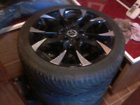 4 17inch wolfrace euro sport 5 stud alloy wheels with perfect tyres