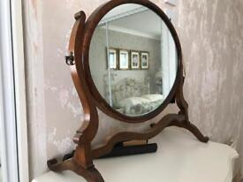 Oval, vintage shabby chic mirror
