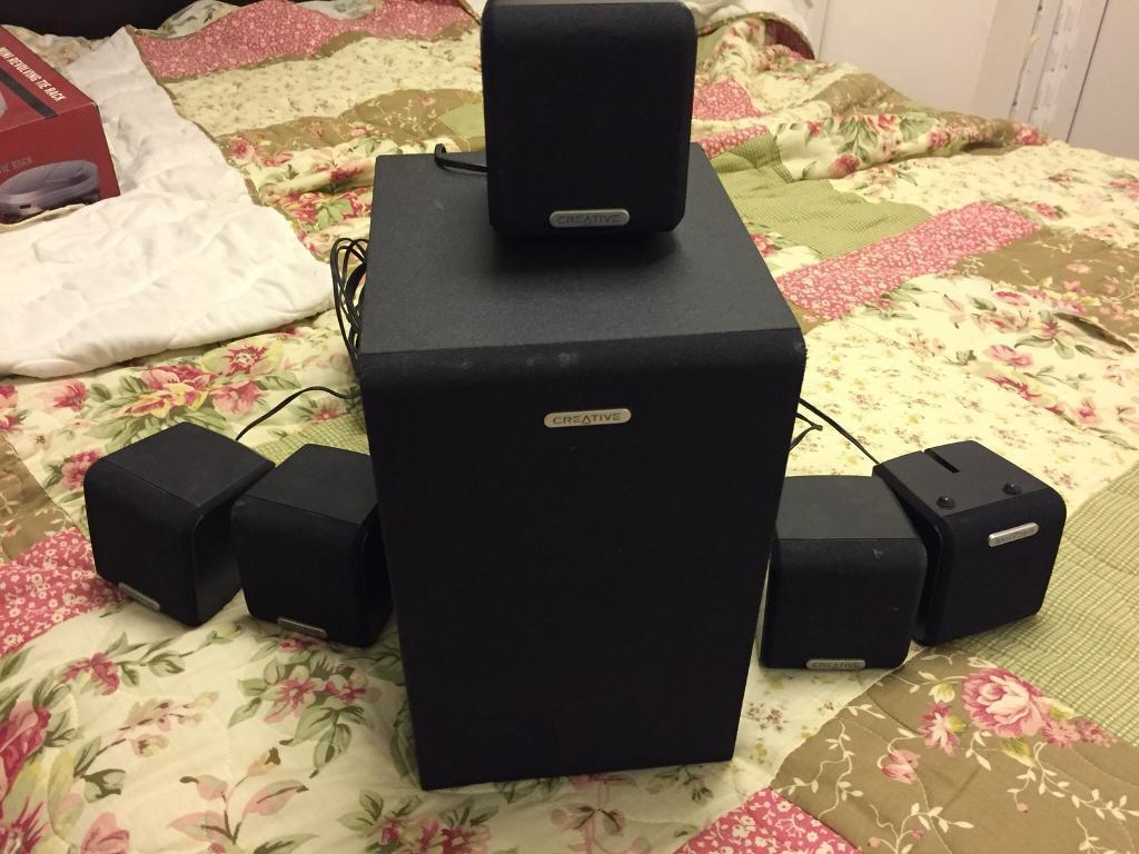 Superb condition Creative 5.1 channel speakers, great sound