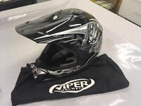 Viper V311, black medium crash helmet, 52 cm. Excellent condition