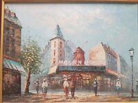 Caroline burnett moulin rouge painting signed