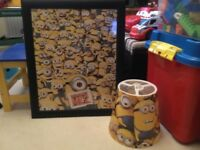 Minion lampshade and picture