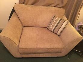 Sofa and snuggle chair set