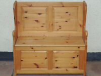 Welsh pine heavy duty compact bench with storage / pew (Delivery)