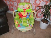 Fisher Price vibrating baby bouncer chair with toys