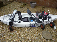 Galaxy 10Ft Fishing Kayak including accessorys, in excellent condition.