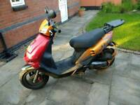 2008 Sym Euro Jet X 50cc Scooter with heated grips