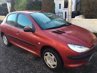 Peugeot 206, 1360l, 10 month's MOT, very good condition, 5 door