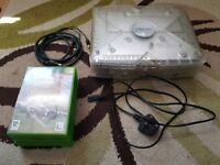 Crystal Clear XBOX Original 8GB Console with 5 Games and Leads (No Controller)