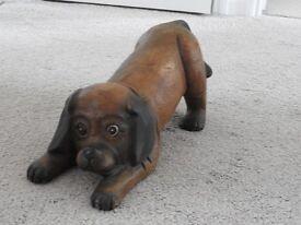 Wooden Dog Figure