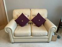 2&3 seater cream leather sofas excellent condition