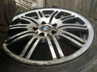 Bmw m3 wheels with tyres 18 inch ONLY 3 NOT FULL SET