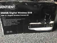 Cctv wireless system 250gb digital dvr + 2 cameras
