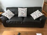 Reserved-Leather Sofa (3 seater) - Dark Brown