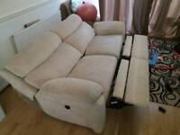 Large three seater electric sofa