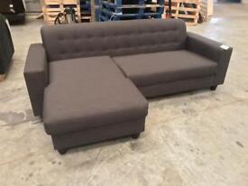 Brand new grey retro corner sofa