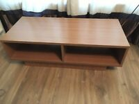 Argos Cube TV Stand / Unit with Two Shelves - Oak Wood Effect
