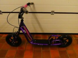 BARRACUDA FLATLINER DS BMX STYLE SCOOTER - PURPLE