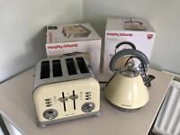Morphy Richards Accents Cream Toaster and Kettle