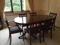 Dining table & 6 chairs (Mahogany)