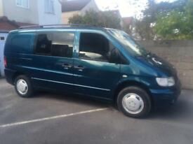 Mercedes Vito 2.2 turbo diesel 6 seater dualiner t4 serf fast release seats