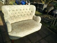 BEAUTIFUL TWO SEATER SOFA SOFT MULTI COLOUR PASTELS
