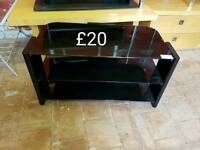 large black glass TV stand free delivery in Leicestershire