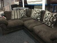 New/Ex Display Dfs Cord Half Leather Group Sofa