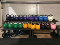 Various Kettlebell weights for sale