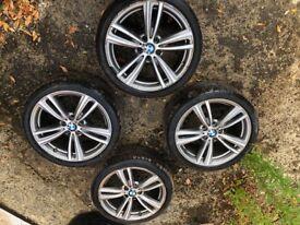 "Genuine BMW 3 4 Series 19"" M Sport Alloy Wheels And Tyres F30 F31 F32 F33 442M"