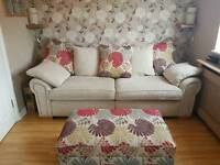 Large Burbank Sofa Set inc Grand 4 Seater, 3 Seater Sofa Bed and Ottoman