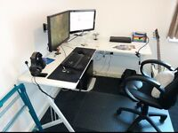 White L-Shaped Corner Computer Desk