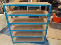 Metal shelving rack for garage/shed