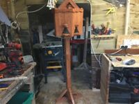 Free standing bird table and nesting boxes