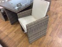 Radeway 11 piece patio set. Boxed
