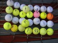 Colourful set of golf balls for a bargain price