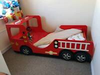 Boys fire engine bed