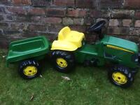 Kids 'John Deere' Tractor & Trailer Ride-on/Pedal toy **Reduced**