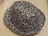Leopard / Animal Print Hat - Trilby Style - Unused