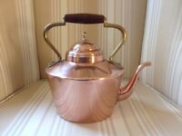 Converted Antique Copper Kettle to LED Lamp
